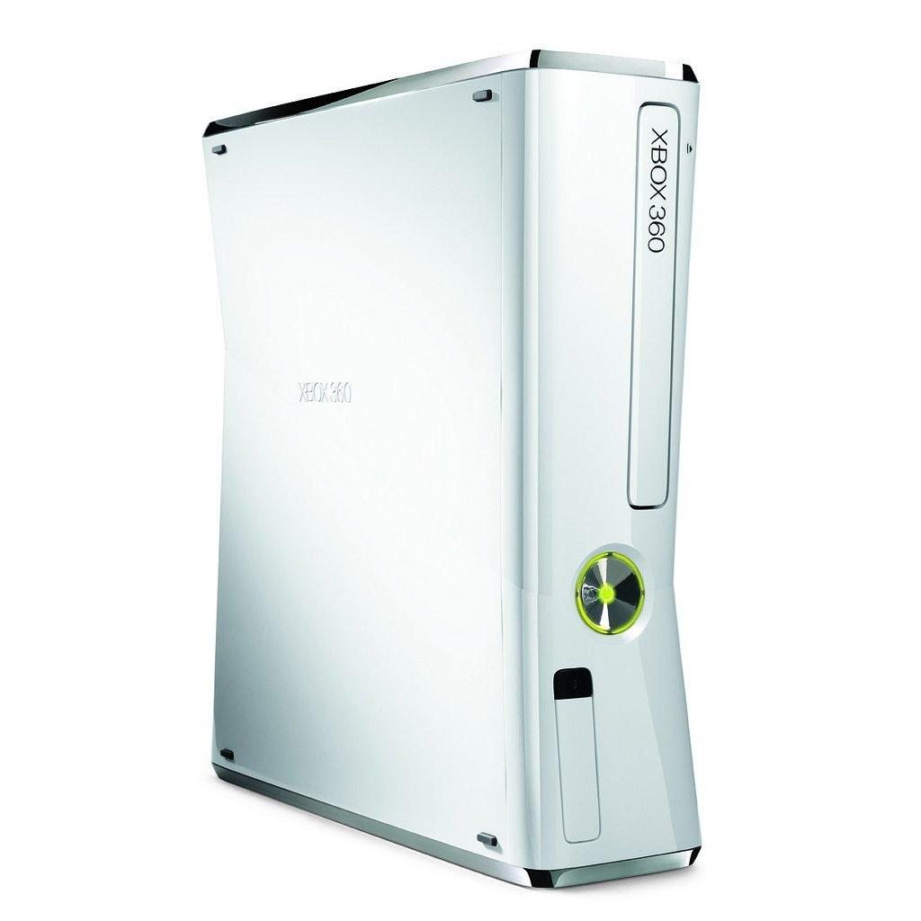 Weiße Xbox 360. Konso...