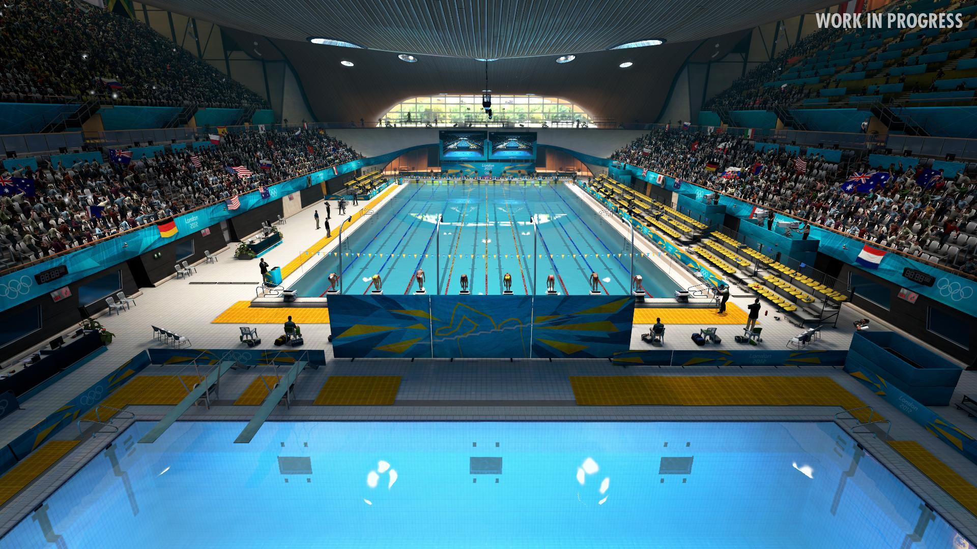 London 2012 aquatic centre screens released for Piscine olympique