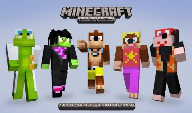 Xbox 360 Minecraft Default Skins Summer of Arcade Invad...