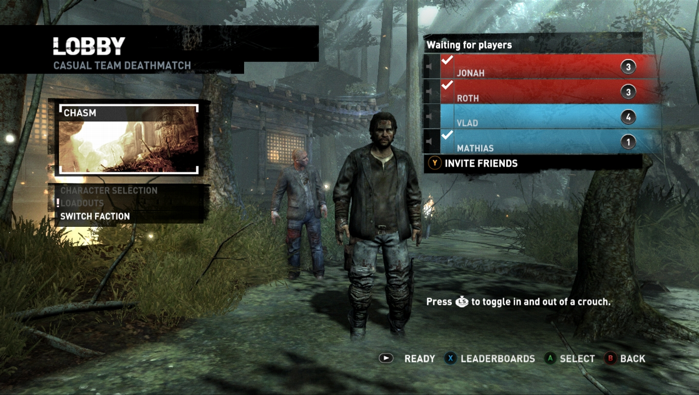 Tomb Raider Multiplayer Screens