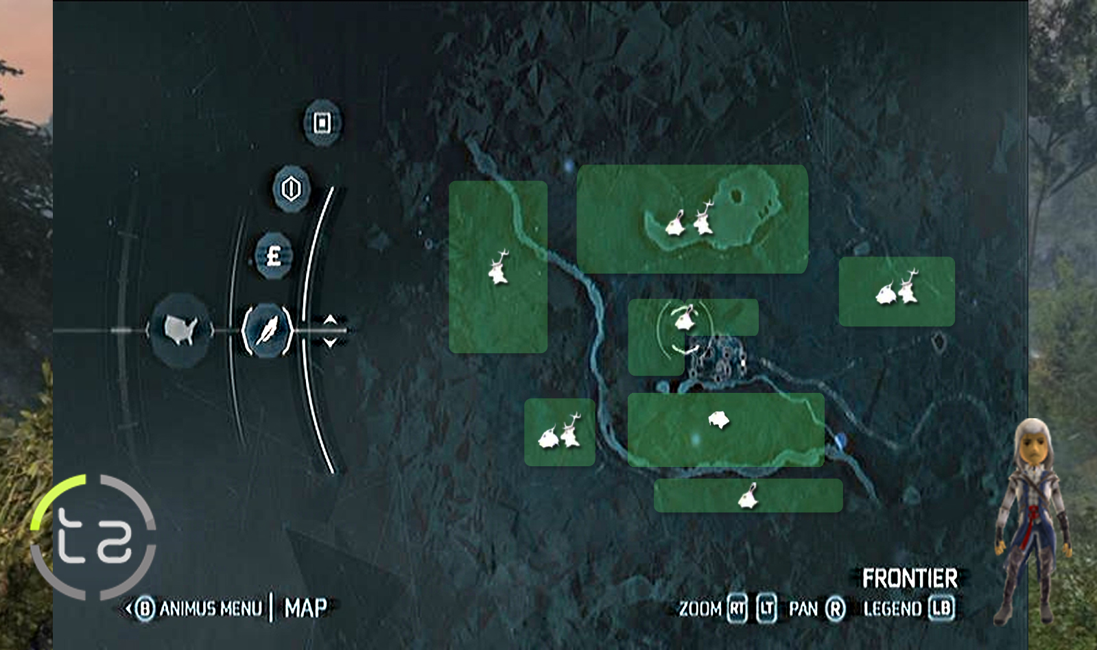 Black Creek: Hunting Map
