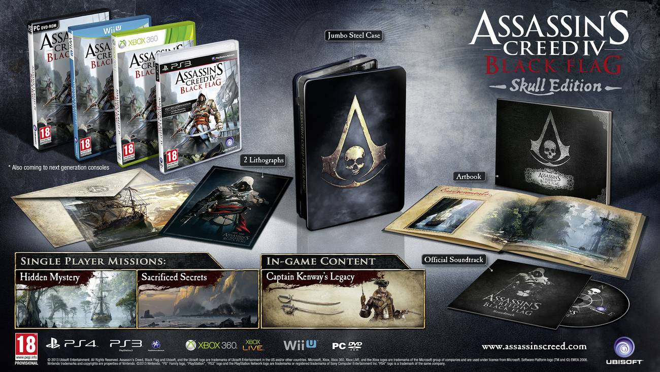 Assassin S Creed Iv Black Flag Special Editions