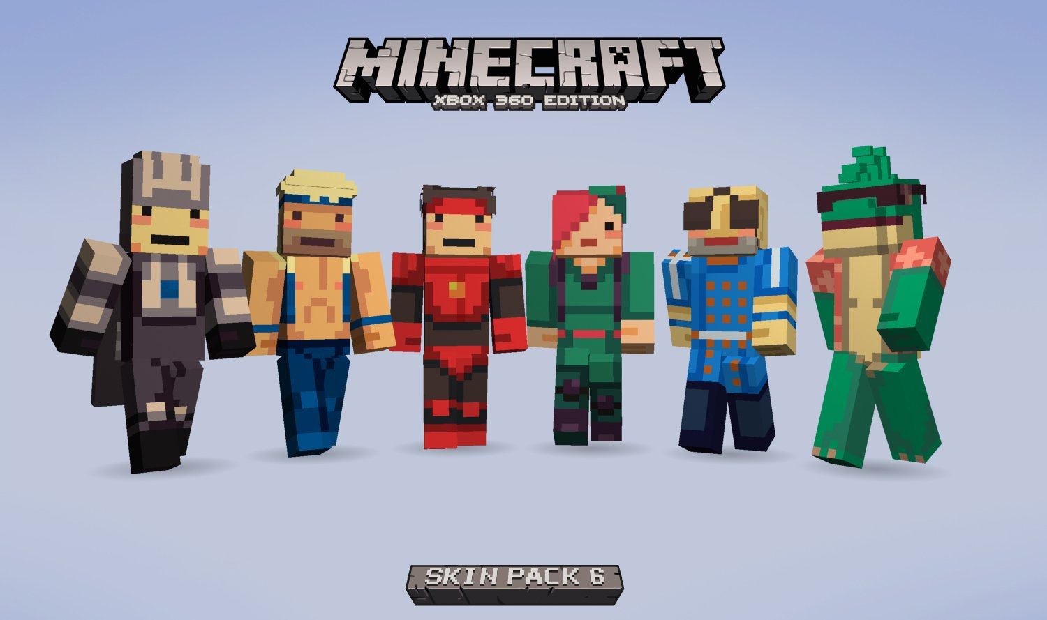 Six More Skins Revealed For Upcoming Minecraft DLC