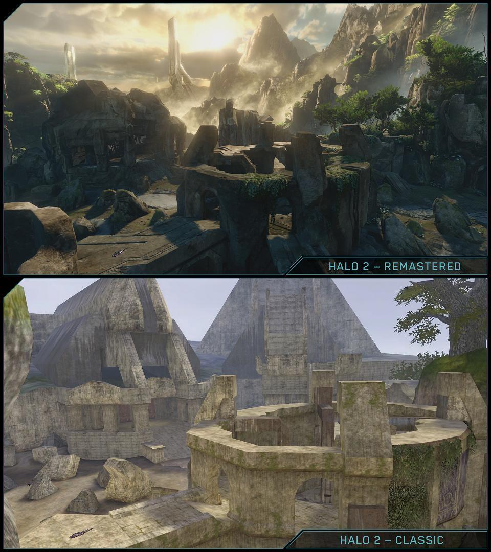 Halo 2 bertsioaren konparaketa bat