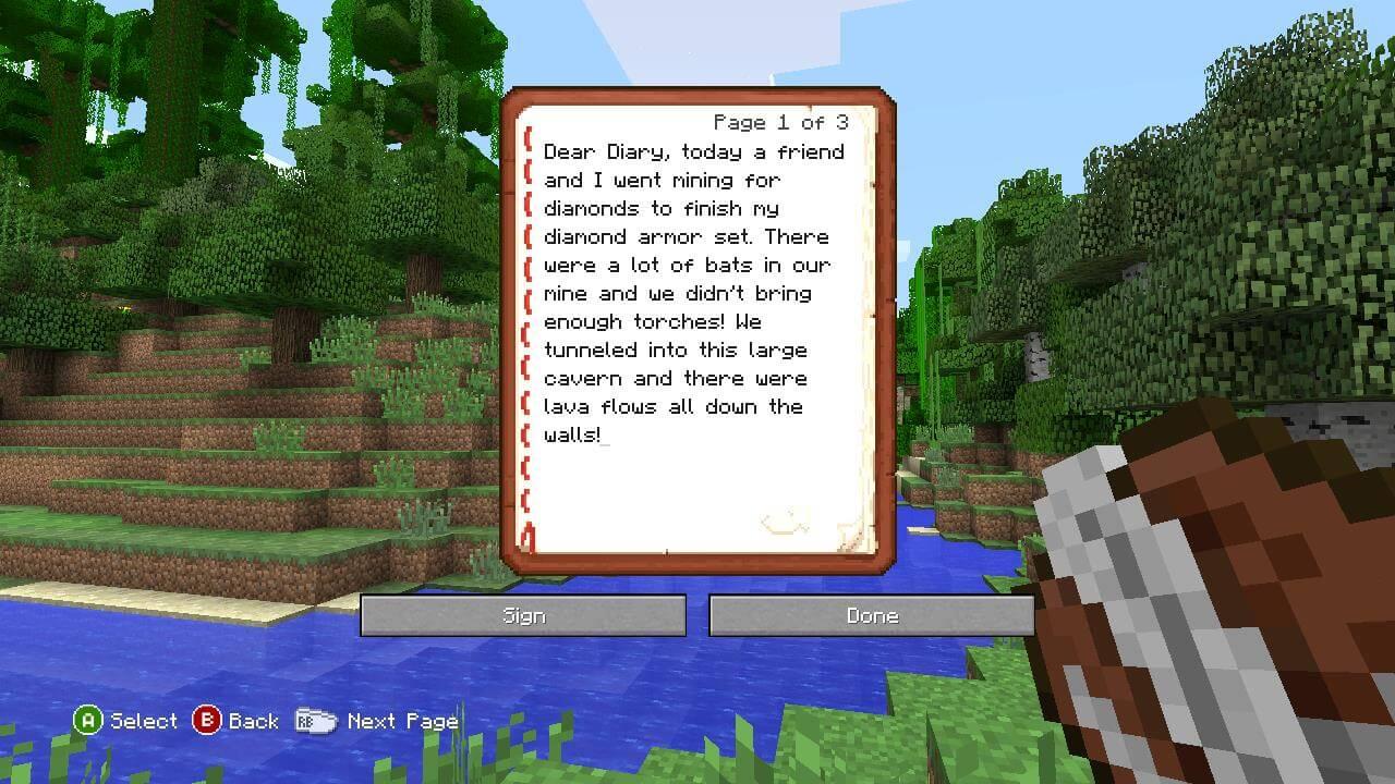How To Make A Book Minecraft Xbox : Minecraft update celebrates minecon