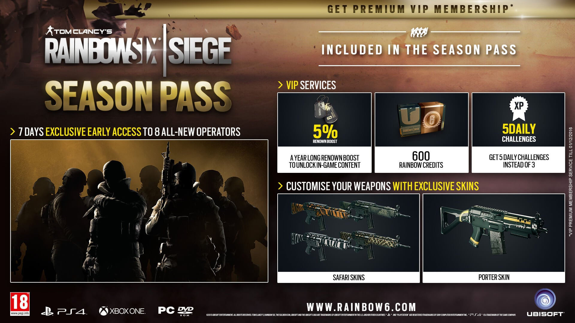 Image result for rainbow six siege season pass