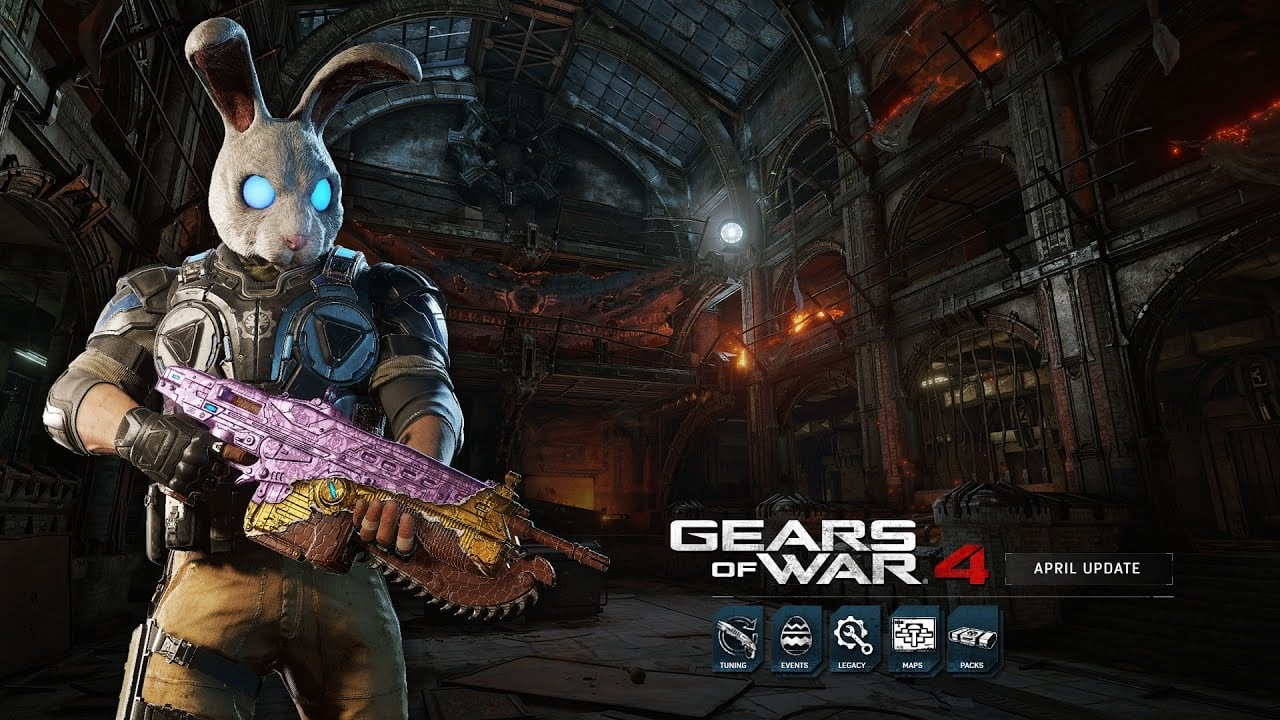 Gears of War 4's April Update Tunes the Gnasher and Hammerburst