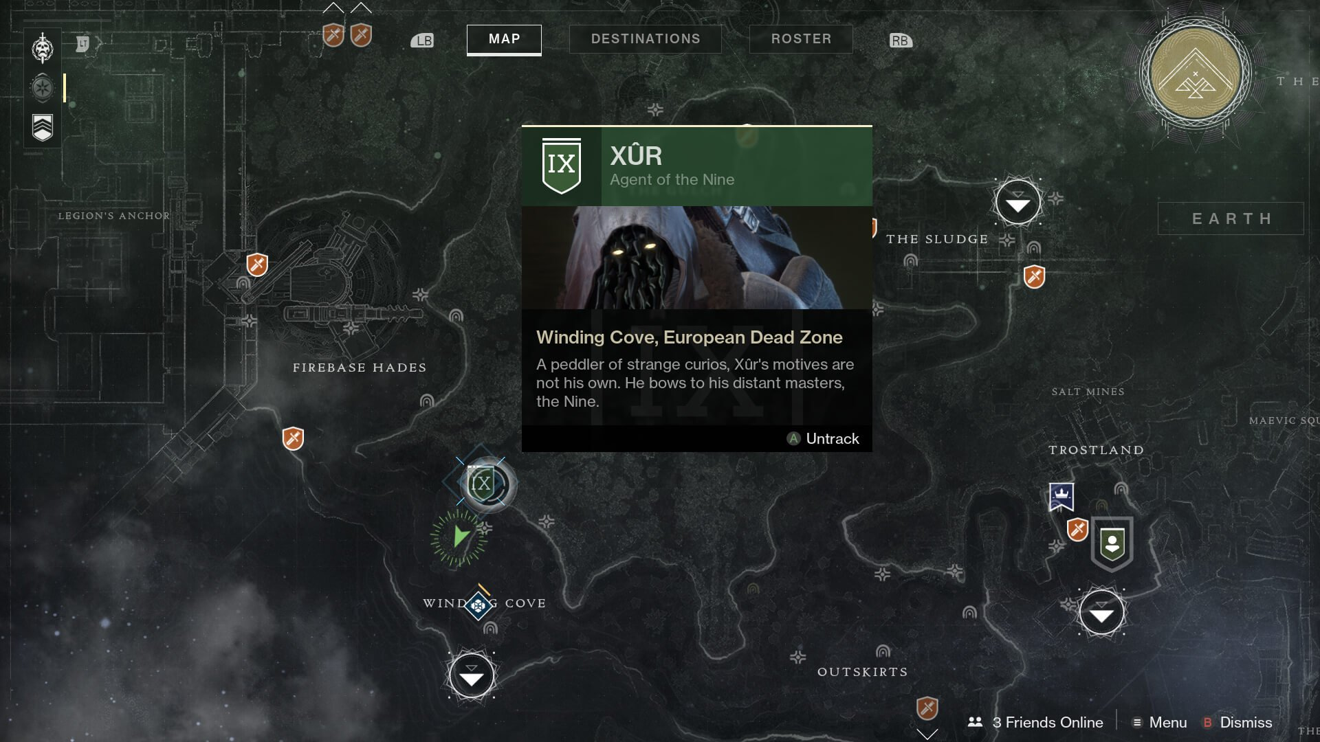 Destiny 2: Xur, Agent of the Nine, location and Exotic gear