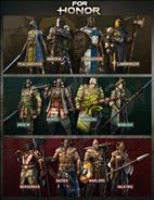 For Honor Knight, Viking and Samurai heroes
