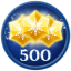 Obtain 500 Stars in Frozen Free Fall: Snowball Fight