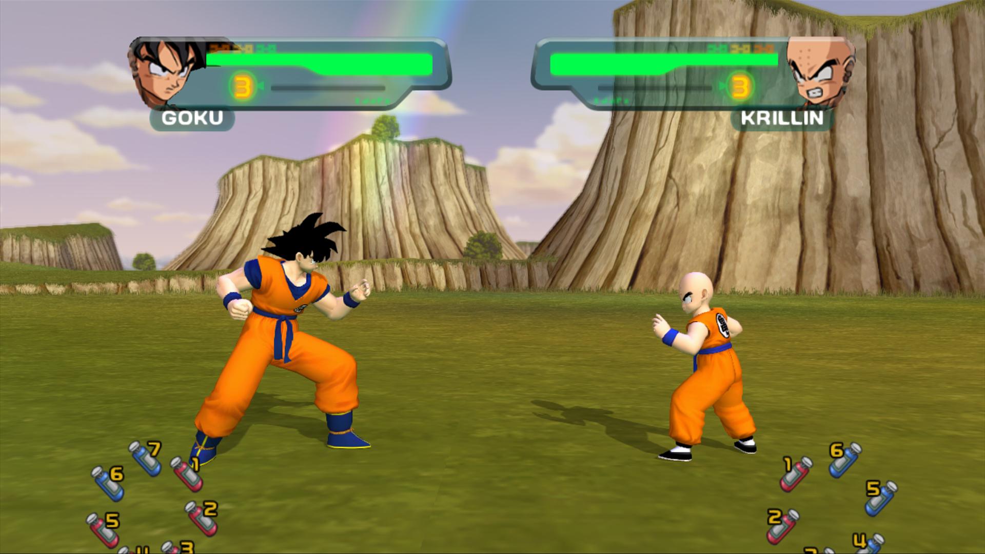 First Dragon Ball Z Budokai HD Screens