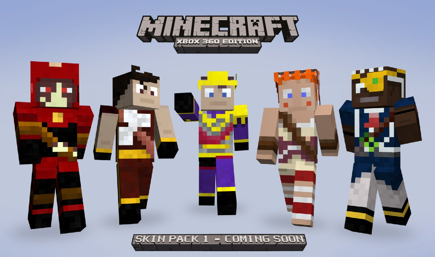 Full list for minecraft xbox 360 skin pack 1 for Mine craft for xbox