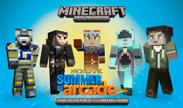The Free Summer Of Arcade Minecraft Skins Are Here - Skins gratis minecraft xbox 360
