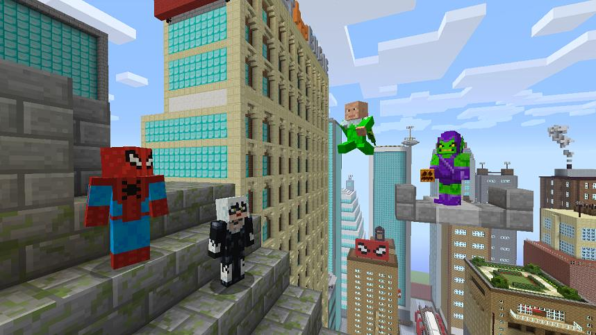 Spiderman Swings Into Minecraft Via Skin Pack DLC - Skins para minecraft pe de spiderman