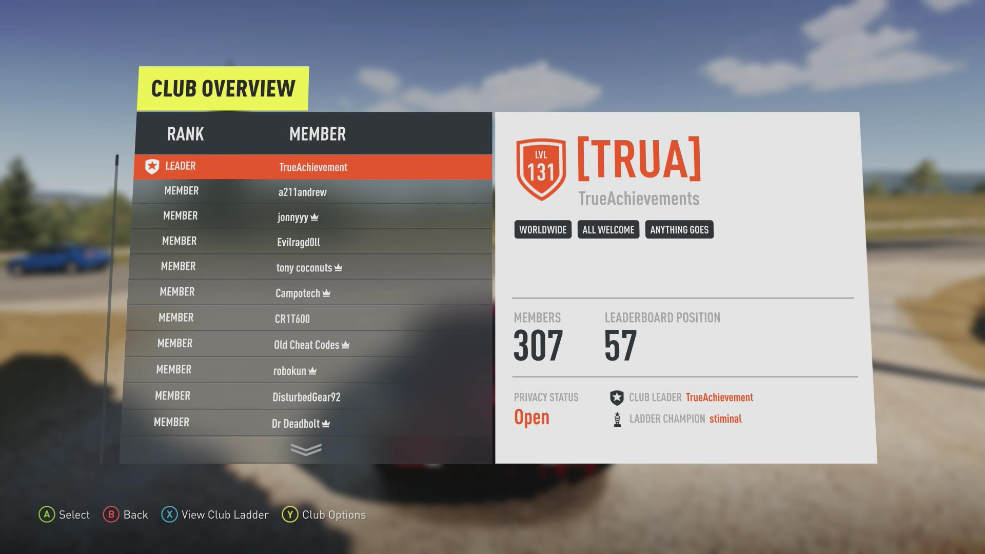 Join The TA Car Club in Forza Horizon 2