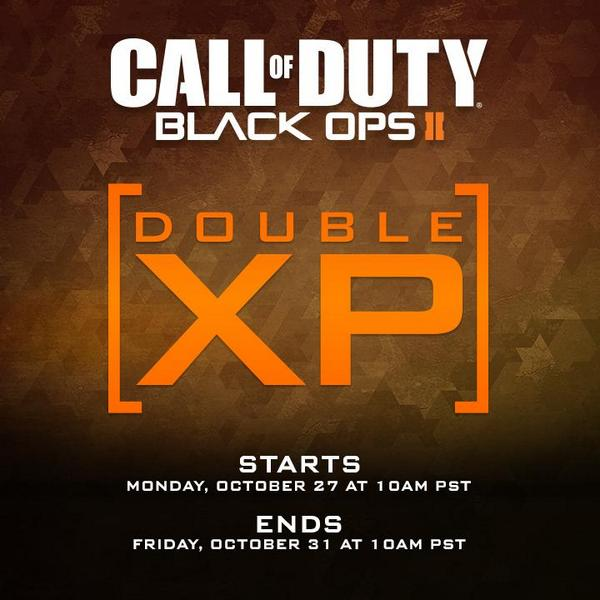 cod advanced warfare double xp