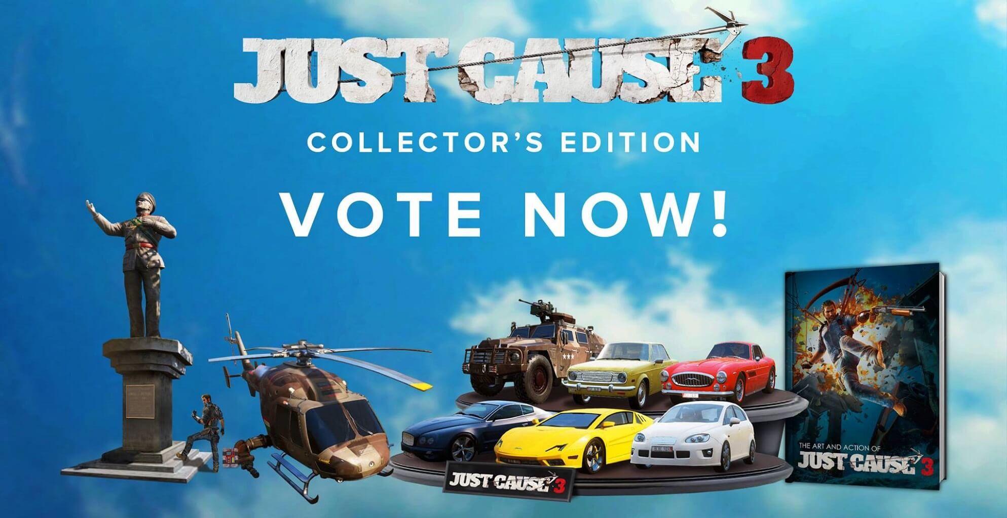Vote for just cause 3 collector's edition contents | gamegrin.
