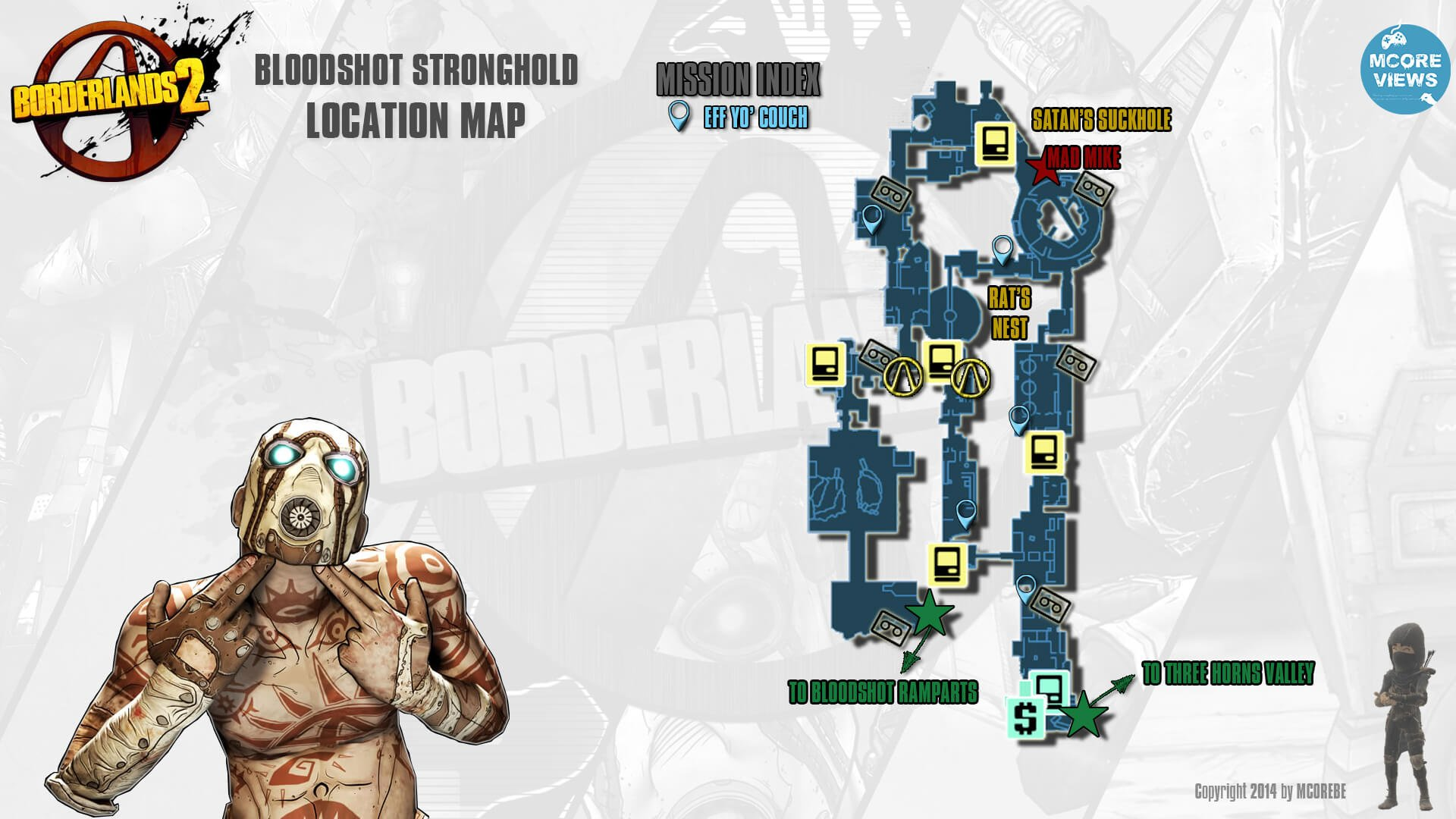 Bloodshot Stronghold Map for Borderlands 2 - IGN
