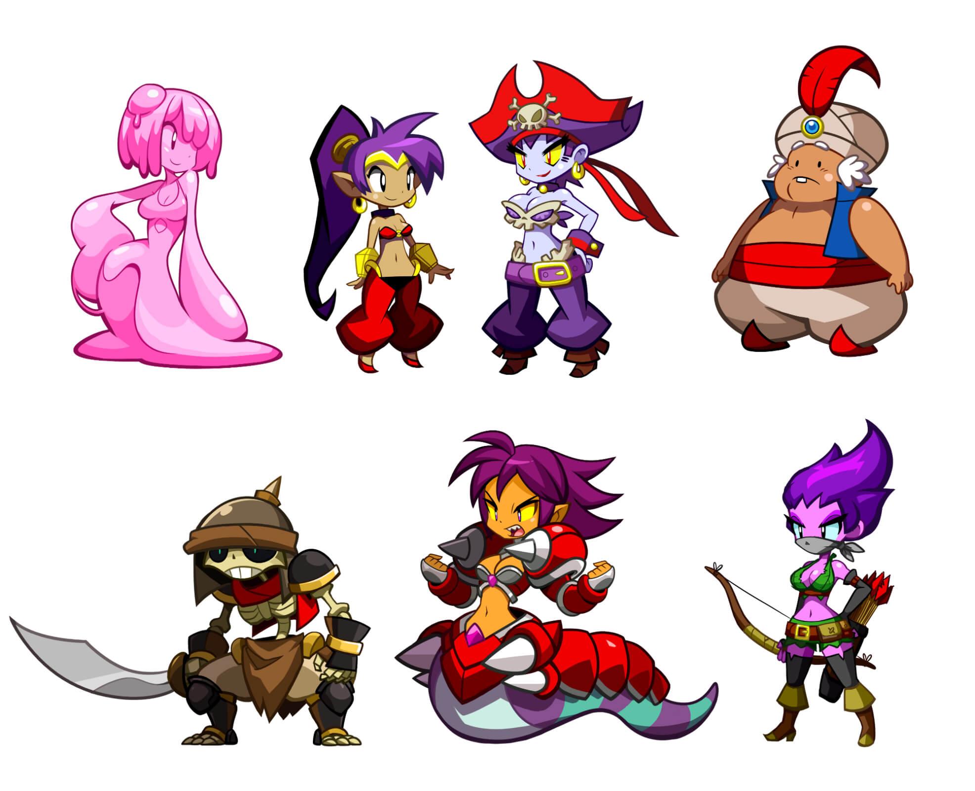 Shantae: Half-Genie Hero Character Art
