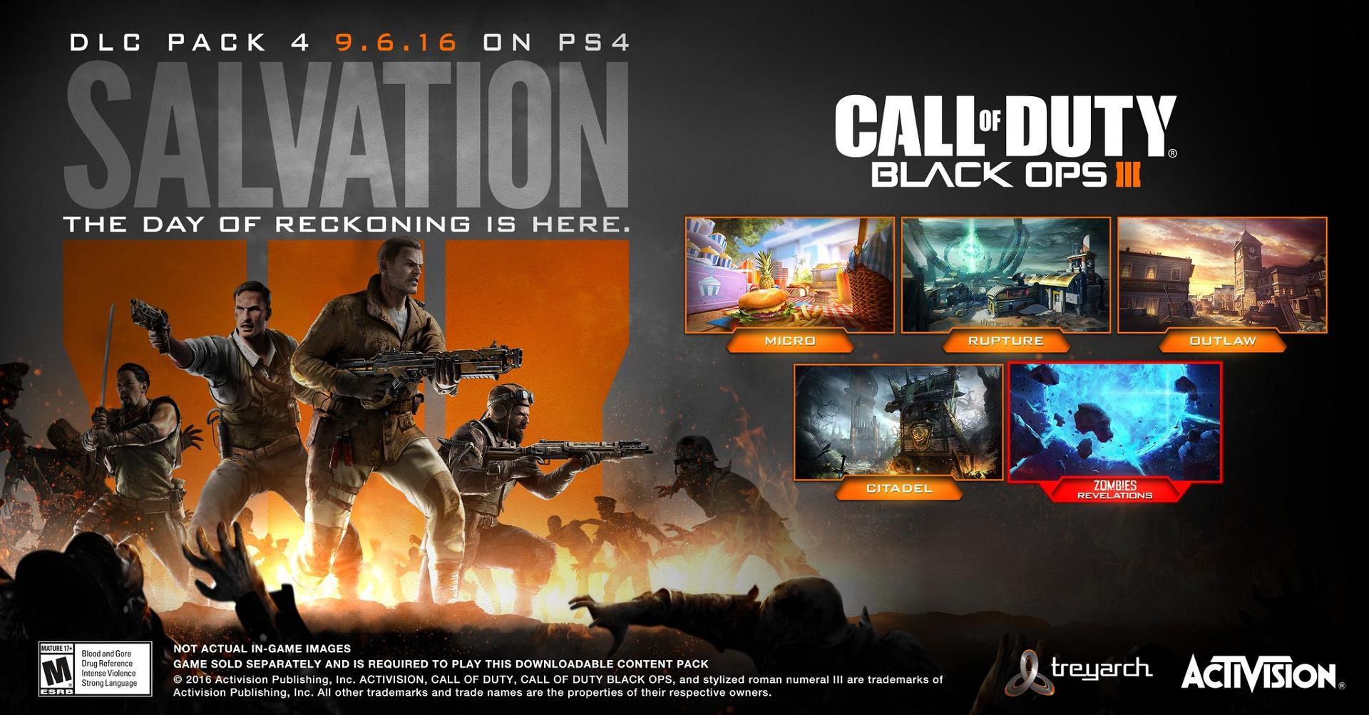 Call of Duty: Black Ops III - Salvation DLC Achievement List
