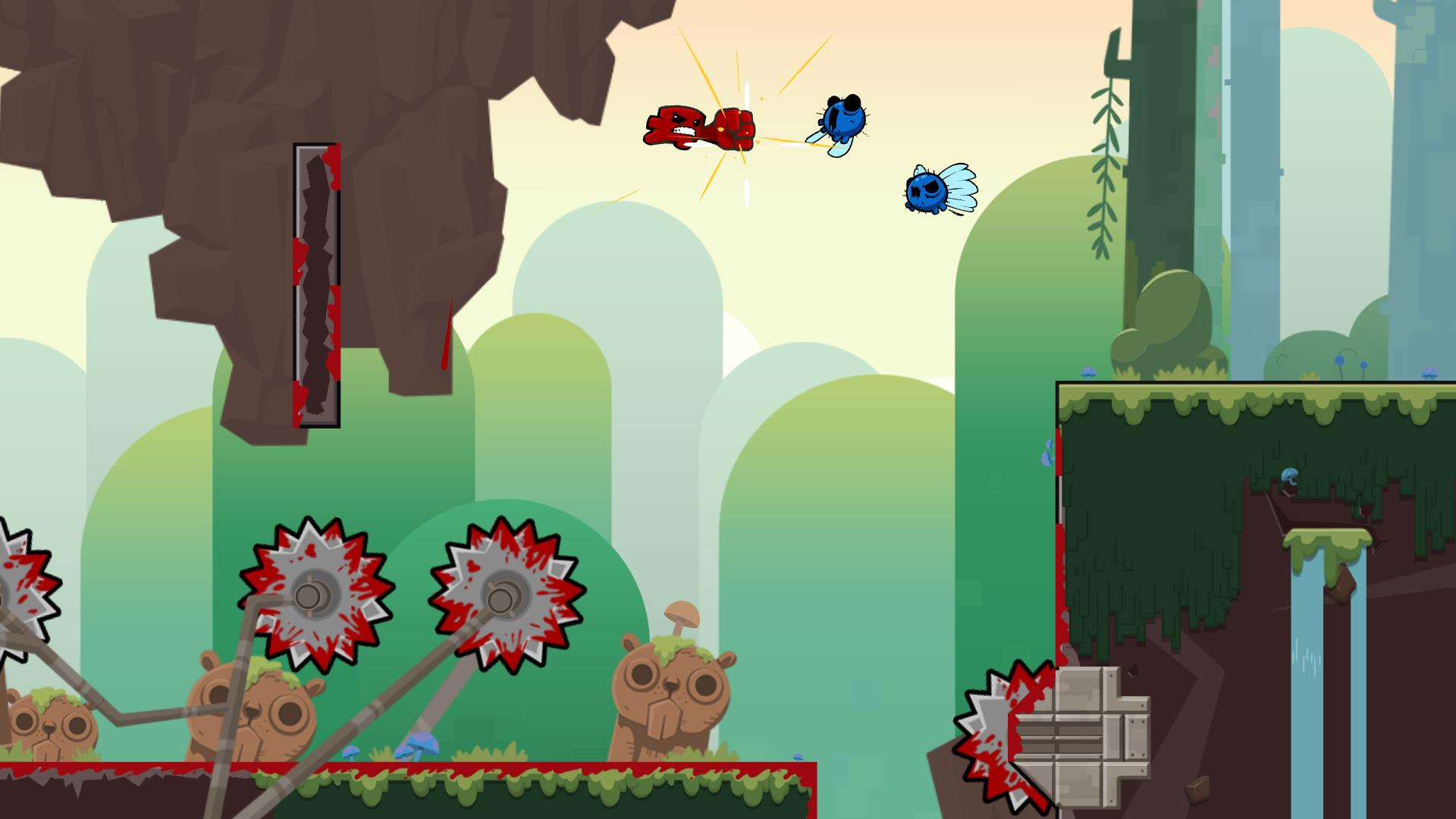 Image result for super meat boy forever gameplay