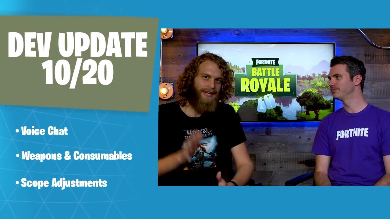 Fortnites latest dev update talks voice chat weapons consumables fortnites latest dev update talks voice chat weapons consumables and more ccuart Image collections