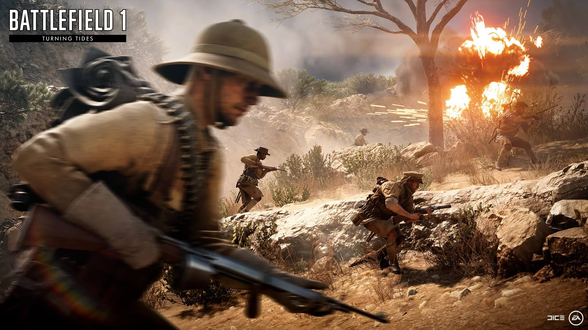 battlefield 1 turning tides dated, dlc free trials now active