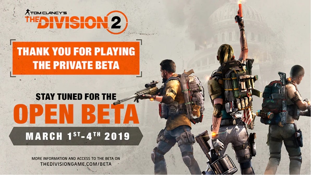 The Division 2 Open Beta Arriving In March