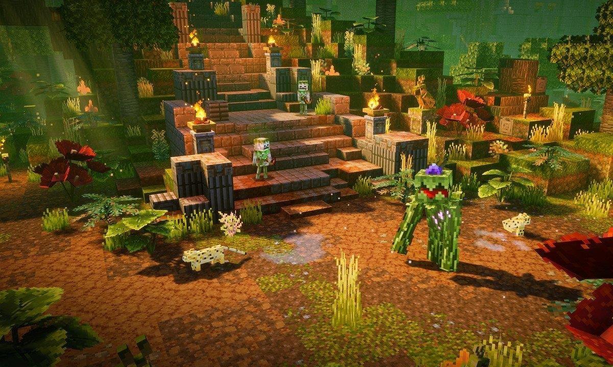 Minecraft Dungeons Jungle Awakens DLC launches next week alongside