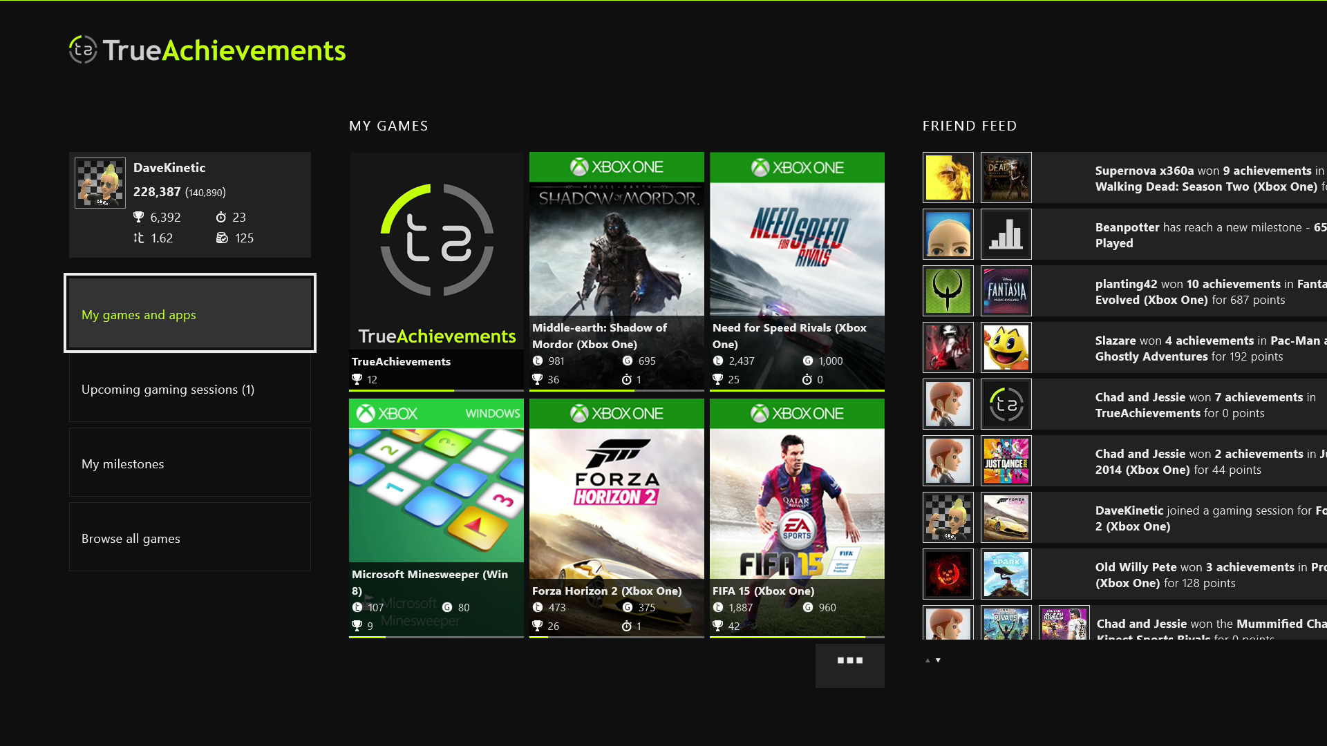 how to search apps on xbox one
