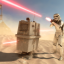 """Gonk? Gonk!"" in Star Wars Battlefront"